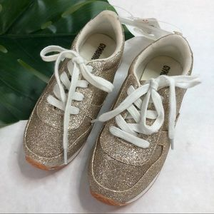 Gymboree Gold Sparkle Sneakers Size 12 NWT